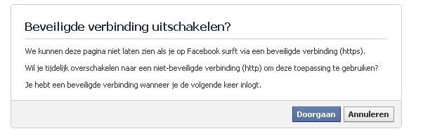 Facebook Beveiligde Verbinding Uitschakelen